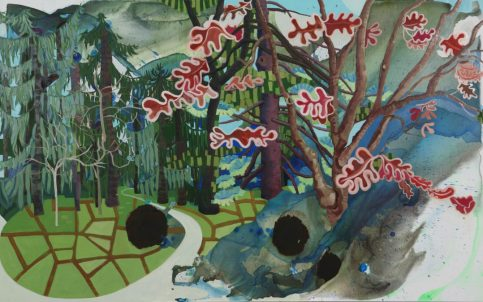 Elisabeth Condon, Yaddo Trees, Autumn, 2010, 44.5 x 72, courtesy Artist Pension Trust