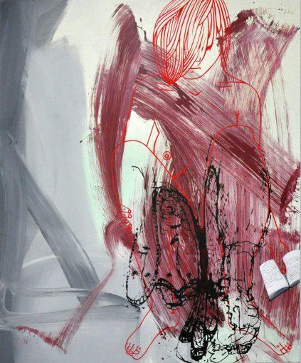 Proust's Doodle, 2013, acrylic on canvas, 72x60
