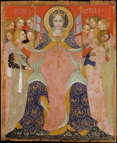 Niccolo di Pietro_Saint Ursula and Her Maidens_ca. 1410_Tempera and gold on wood_37 x 31 in