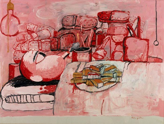 Philip Guston Painting, Eating, Smoking  1973  oil on canvas  77.5x103.5