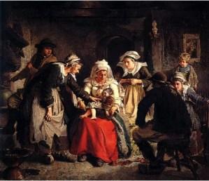 3Robert Wylie La Sorcière bretonne 1872 OIl on canvas