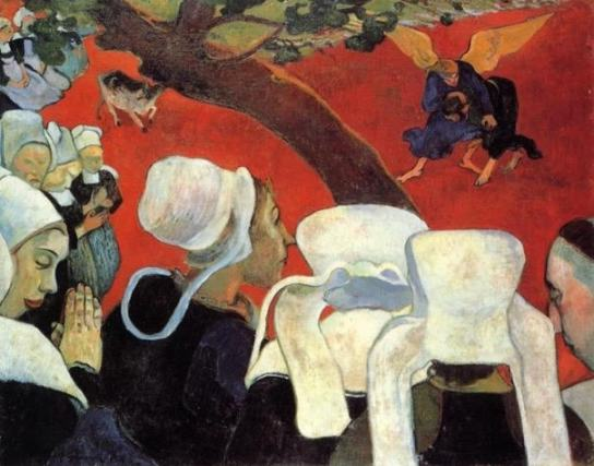 Gauguin Vision After the Sermon 1888 oil on canvas 29 x 36