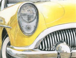 """Yellow Car"" 8x10"" Colored Pencil on Bristol $155"