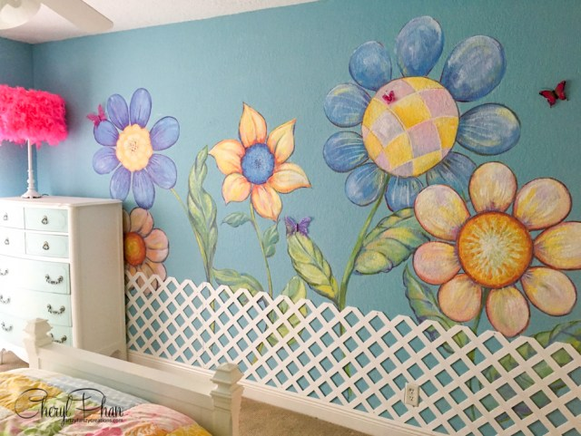 Painted Garden Girls Bedroom Ideas   Cheryl Phan