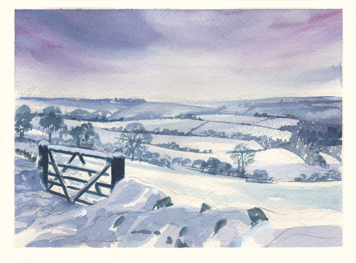 exmoor winter simon roberts painting in france
