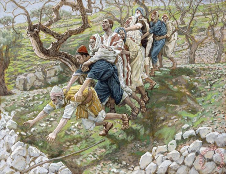 Tissot The Blind Leading the Blind painting - The Blind Leading the Blind  print for sale