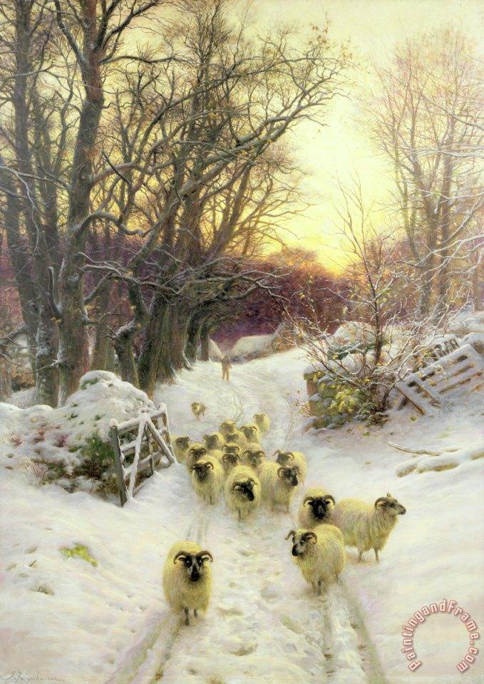 Joseph Farquharson The Sun Had Closed The Winters Day