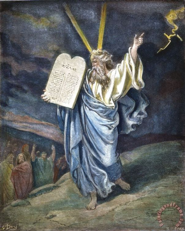 Image result for moses mountain painting