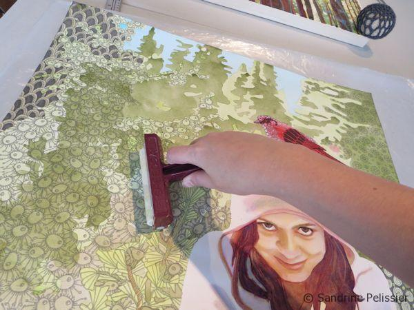 Mounting a watercolor painting on a cradled panel board, a step by step tutorial