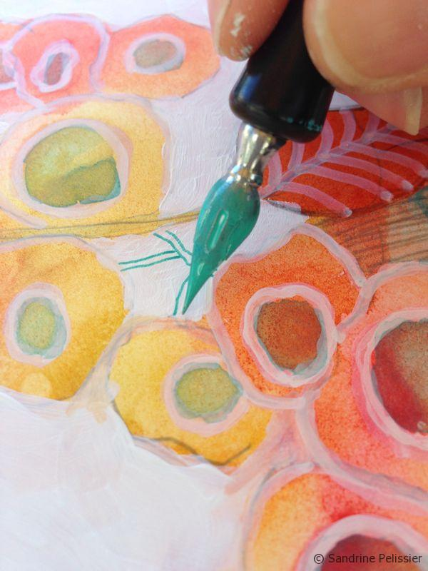 How To Paint Flowers With Mixed Media On Yupo Paper