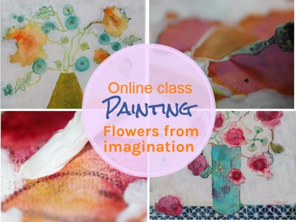 Onlie Class: Painting flowers in mixed media from imagination