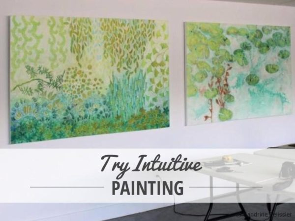 Step by step tutorial: Intuitive semi abstract landscape with acrylics on canvas