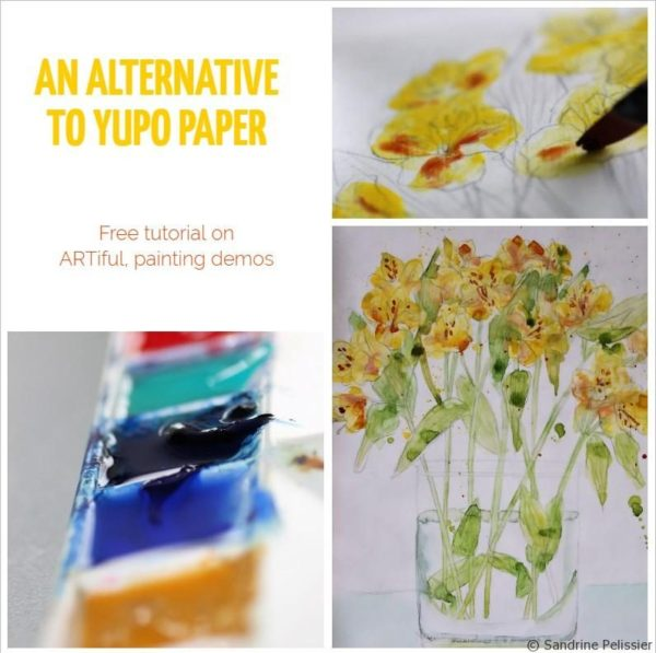 An alternative to yupo paper - part 2: Painting a still life