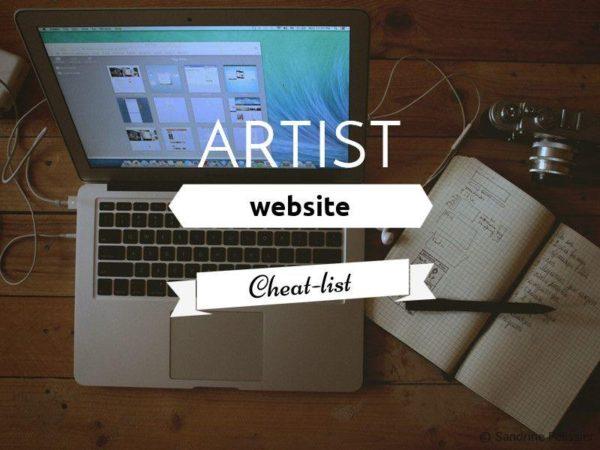 Artist website cheat-list: Excerpt from the online class: Sell your Art online