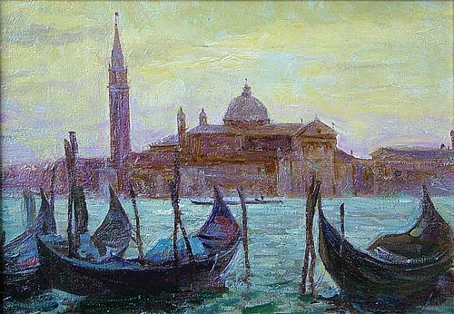 Venice. Evening cityscape - oil painting