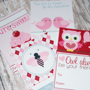 Valentine Cards Printables {FREEBIE}