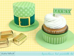 Leprechaun Hat Cupcake & Treat Box Printable DIY