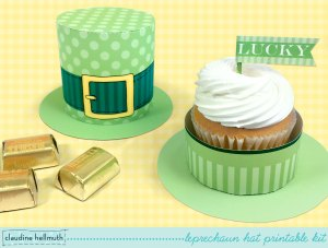 Leprechaun Hat Treat Box DIY Printable
