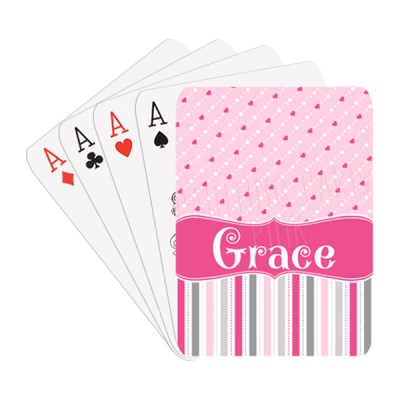 Hearts & Stripes Playing Cards