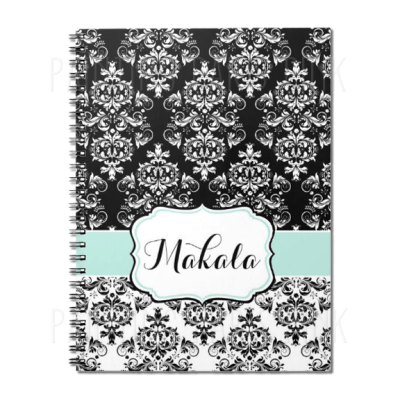 Black & White Damask Journal