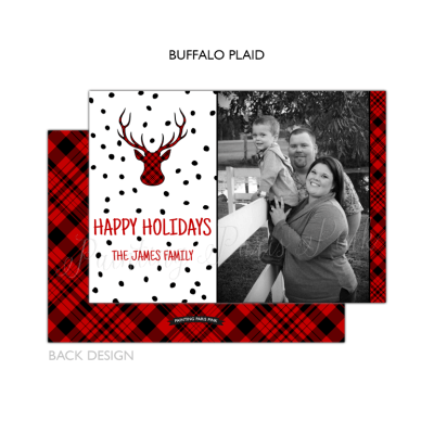 Buffalo Plaid with Back Design