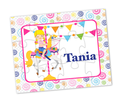 carousel horse personalized puzzle