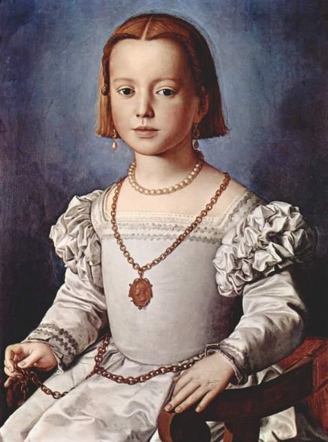 Бронзино. Портрет Биа Медичи, дочери Козимо I, умершей в пятилетнем возрасте