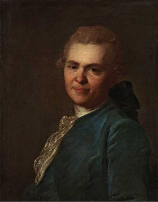 Рокотов, портрет неизвестного в синем кафтане
