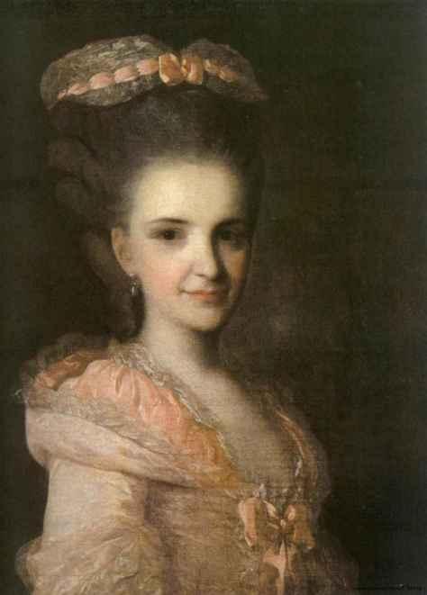 Рокотов, Портрет неизвестной в розовом платье