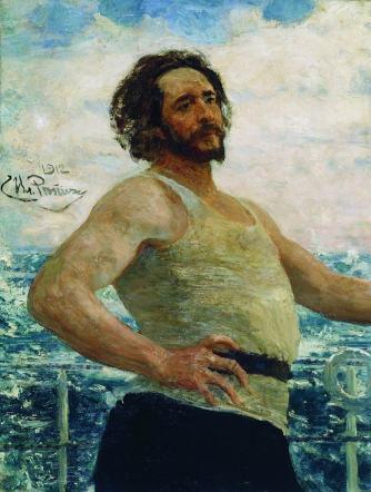 Репин, Портрет Леонида Николаевича Андреева на яхте