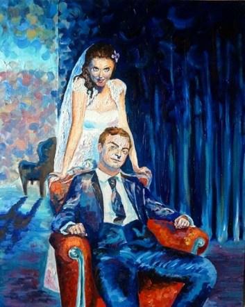 Екатерина Осипович, Портрет молодоженов, масло