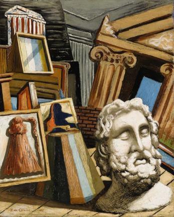 Джорджо Кирико, Метафизический интерьер с головой философа