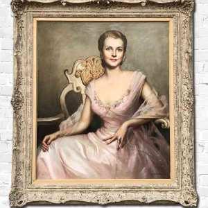 Portrait painting by Louise Altson