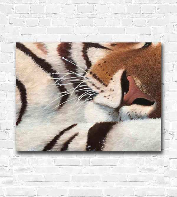 Face of tiger oil painting