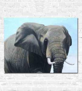 Female elephant painting