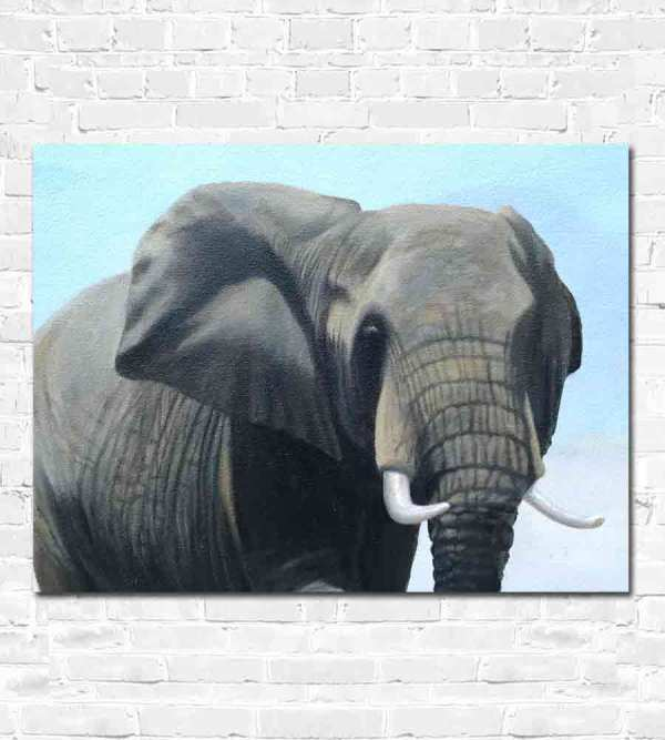 Female elephant painting