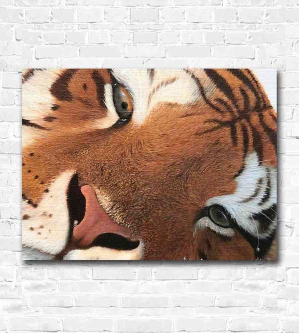Oil painting of the tiger's eye
