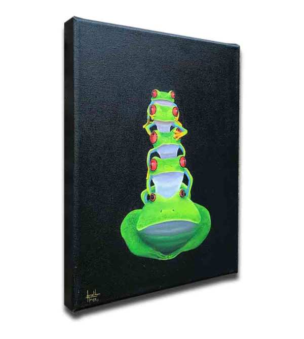 Tof Frog oil painting by Jonathan Truss