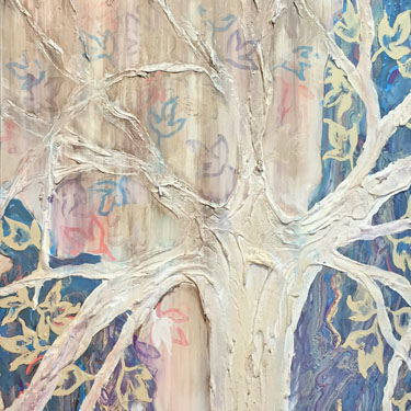 Fifty Six tree painting diptych