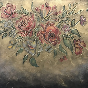 Custom Floral Plaster Painting