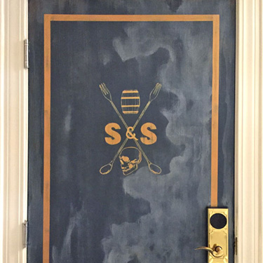 Faux Vintage Steel Door