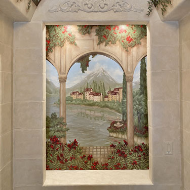 Mediterranean Window Mural
