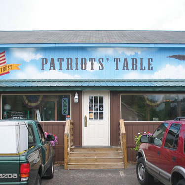 Patriots Table Signage