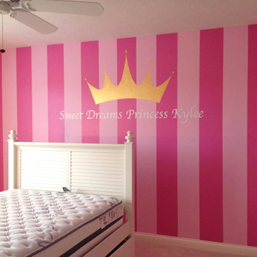 Striped Wall with Design