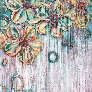 The Moment - Original modern floral art