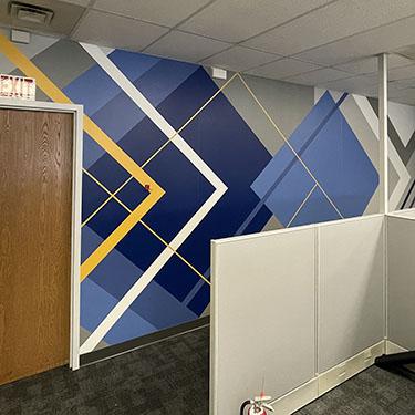 Modern Geometric Office Wall Design
