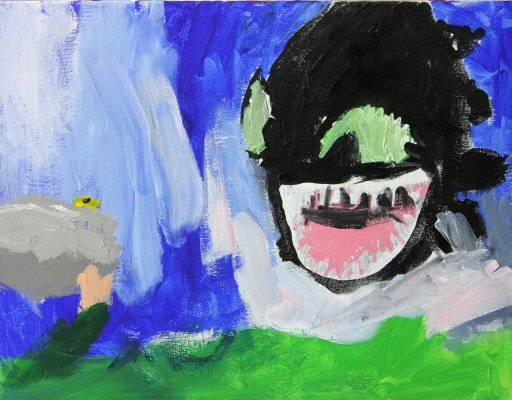 2017-04-02 Tyler - Age 6 - Portrait of Toothless (1)