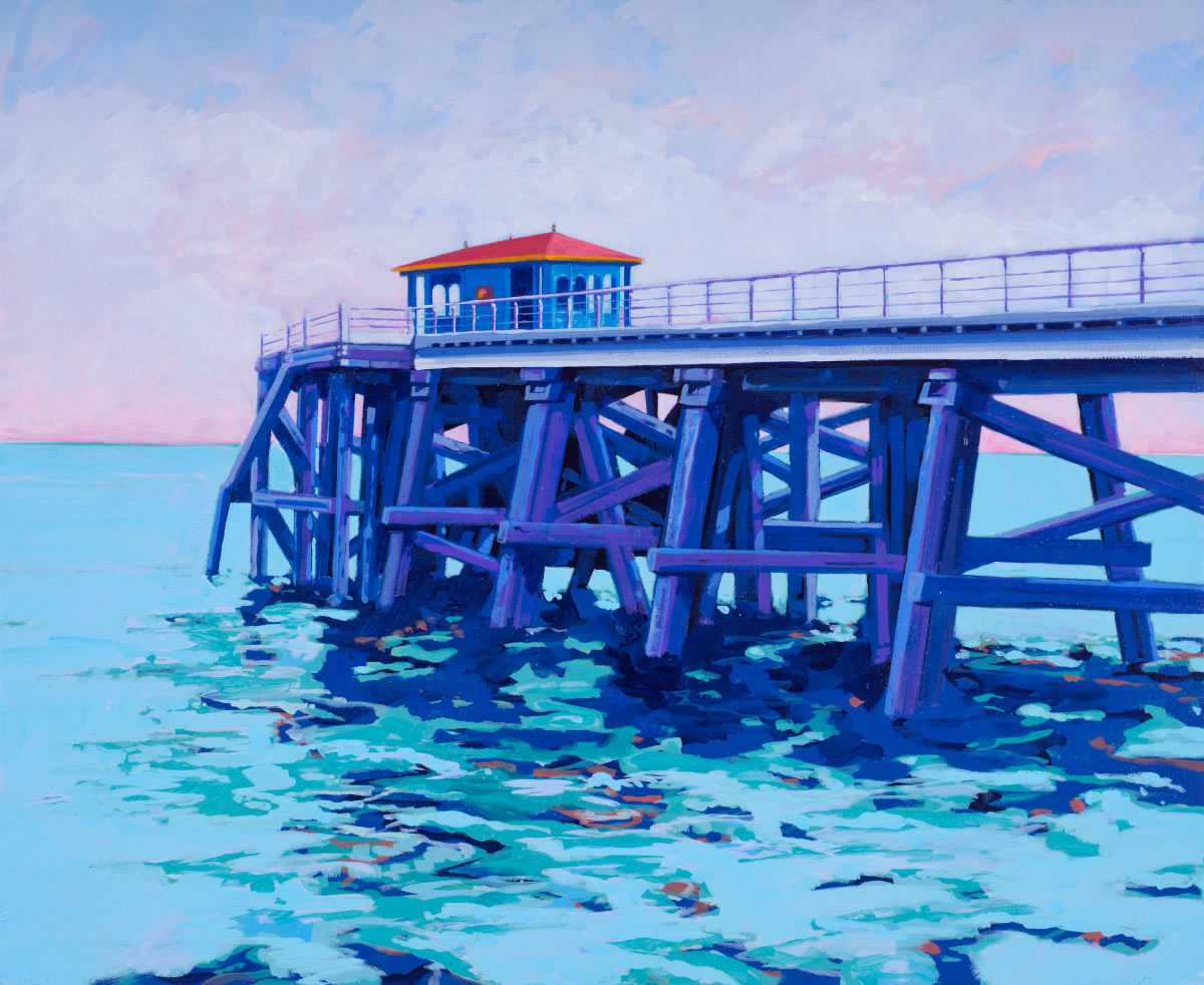 Painting of Beaumaris Pier