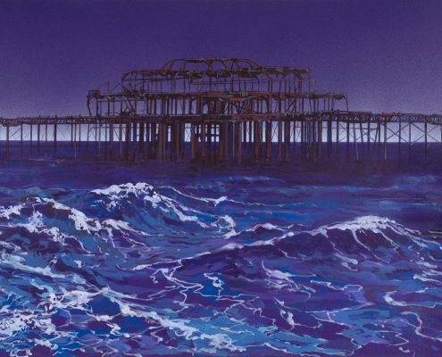Painting of Brighton West Pier