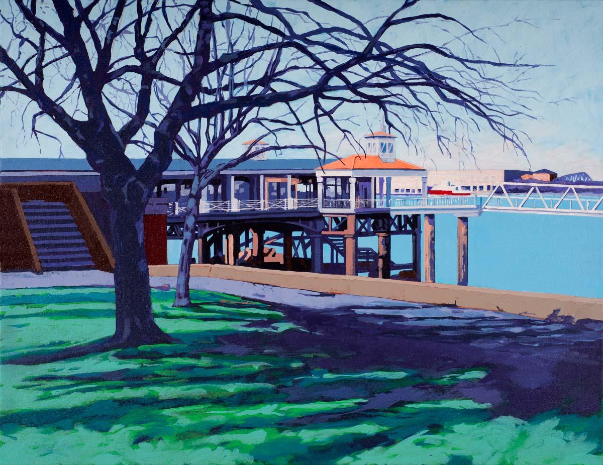 Painting of Gravesend Pier